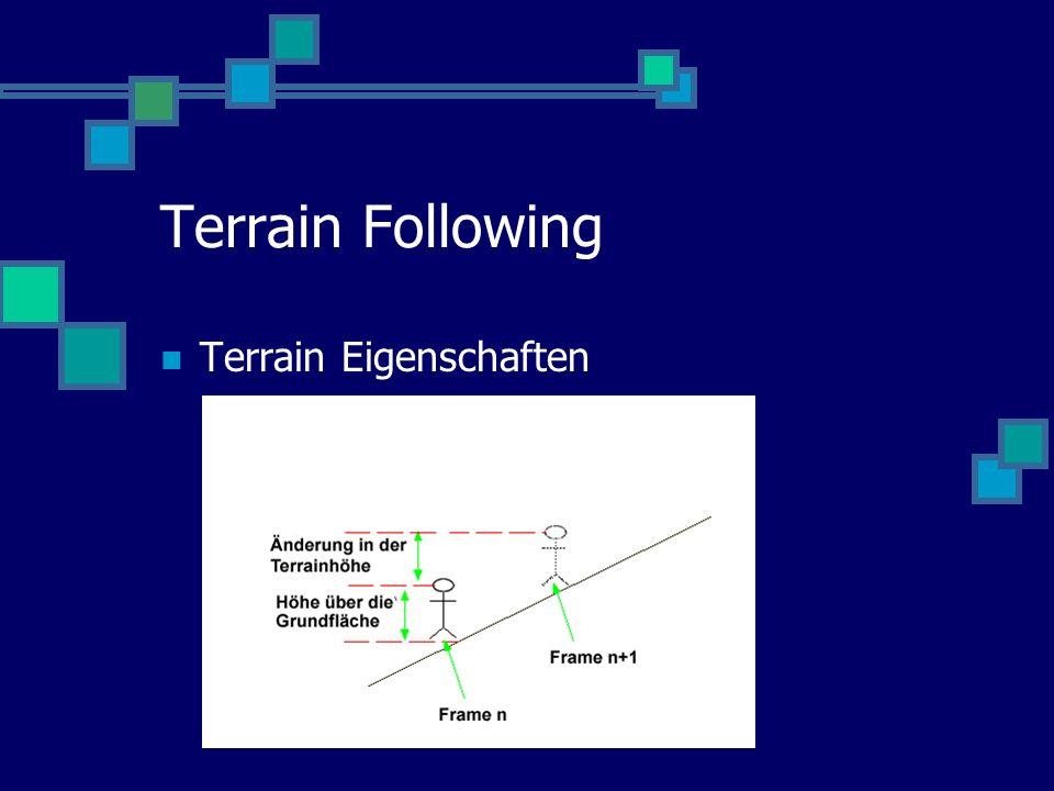 Terrain Following Terrain Eigenschaften