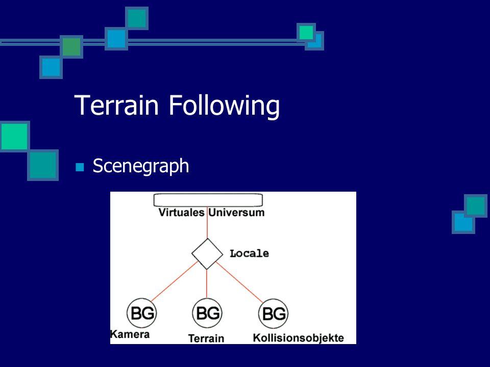 Terrain Following Scenegraph