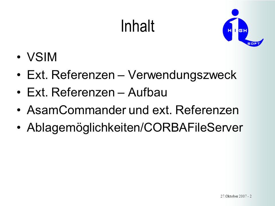 Inhalt VSIM Ext. Referenzen – Verwendungszweck Ext.