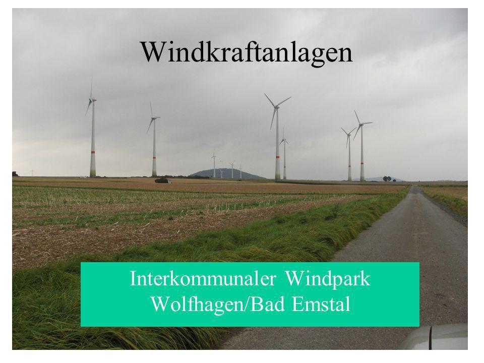 Windkraftanlagen Interkommunaler Windpark Wolfhagen/Bad Emstal