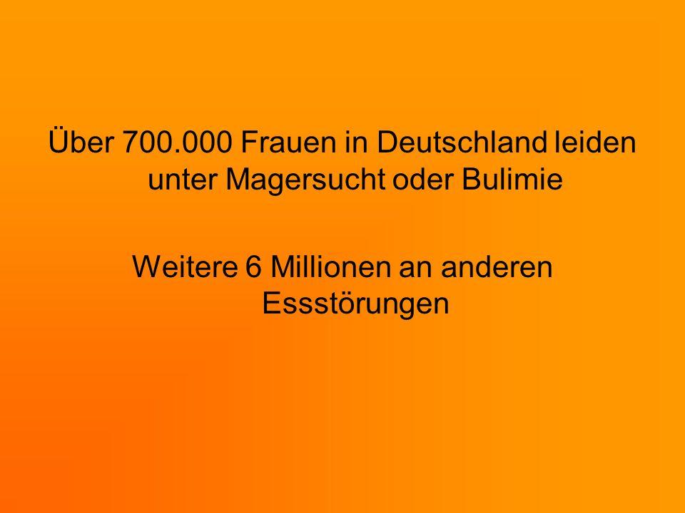 Über 700.000 Frauen in Deutschland leiden unter Magersucht oder Bulimie Weitere 6 Millionen an anderen Essstörungen