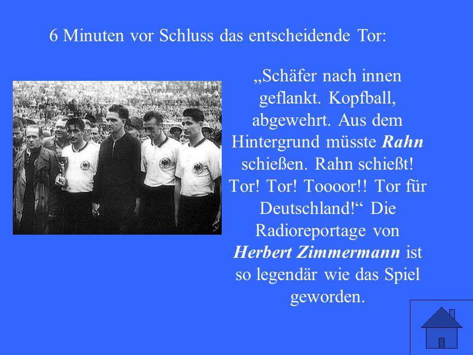 Tor. Tor. Toooor!. Tor für Deutschland. 1954 ist Deutschland Fußballweltmeister.