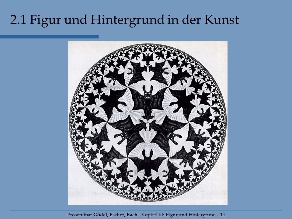 Proseminar Gödel, Escher, Bach - Kapitel III: Figur und Hintergrund - 14 2.1 Figur und Hintergrund in der Kunst