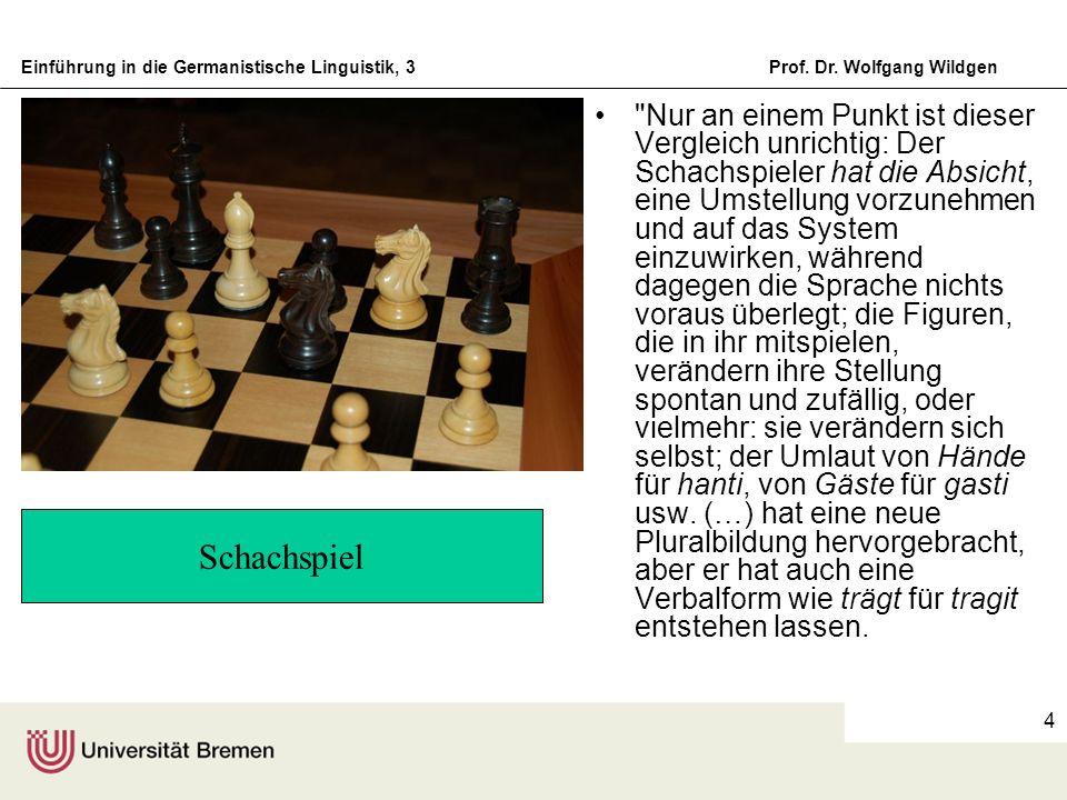 Einführung in die Germanistische Linguistik, 3Prof. Dr. Wolfgang Wildgen 4