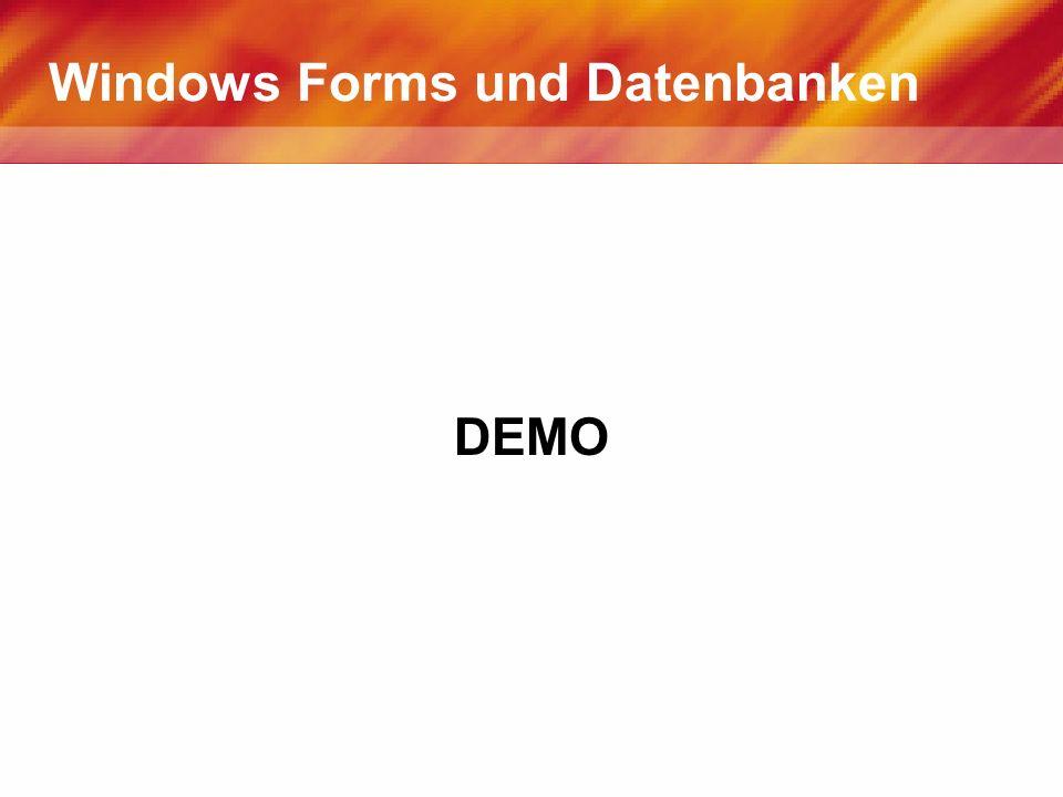 Windows Forms und Datenbanken DEMO