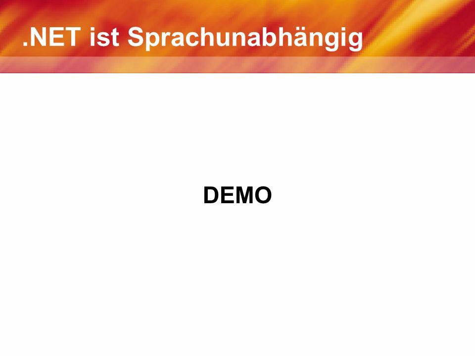 Assemblies Assemblies sind.NET.exe oder.dll Dateien Assemblies bestehen aus einem Manifest und MSIL Code und/oder Ressourcen (Bilder, Texte, …) Das Manifest enthält Informationen wie z.B.