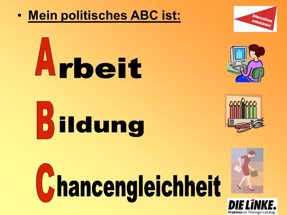 Mein politisches ABC ist: