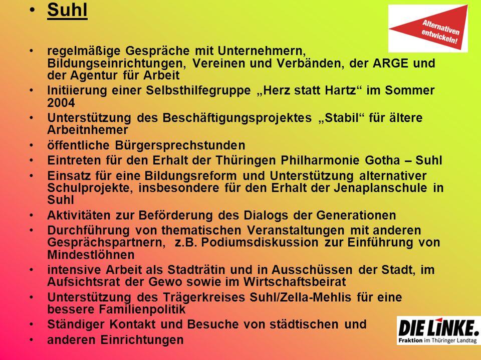 Unterwegs mit Heidrun Schuster – eine couragierte Frau in dem Bereich und der Gewerkschaft B.A.U.
