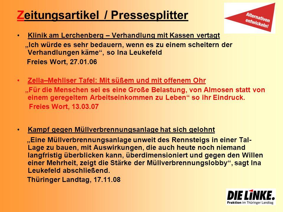 Zeitungsartikel / Pressesplitter Klinik am Lerchenberg – Verhandlung mit Kassen vertagt Ich würde es sehr bedauern, wenn es zu einem scheitern der Ver