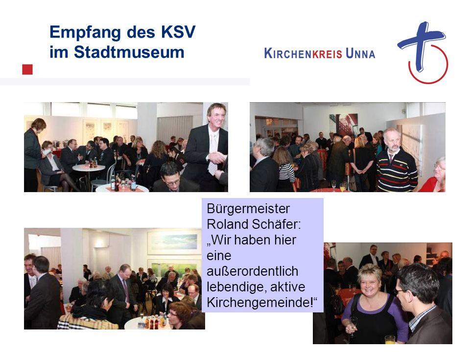 Empfang des KSV im Stadtmuseum Bürgermeister Roland Schäfer: Wir haben hier eine außerordentlich lebendige, aktive Kirchengemeinde!