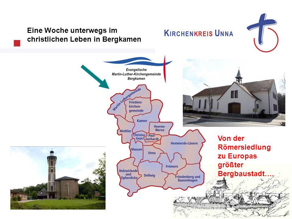 Visitationsbeginn… Mit einem Schnadegang zu Wasser und zu Land sammelte das Visitationsteam des Kirchenkreises Unna erste Eindrücke…