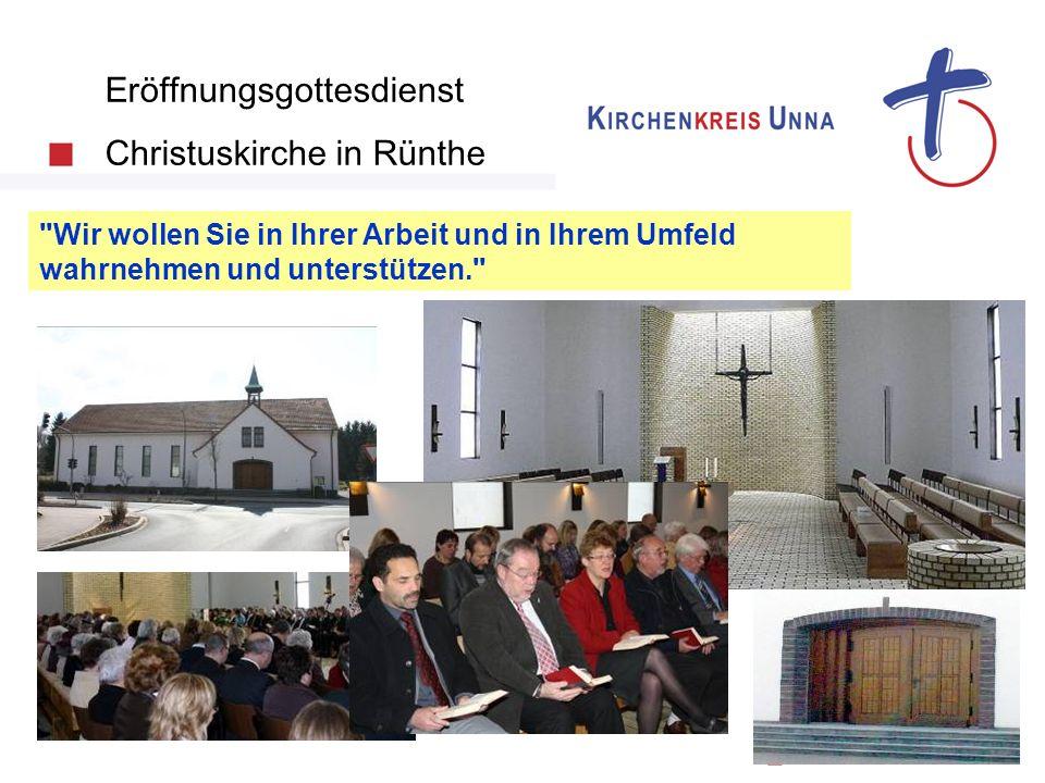 Eröffnungsgottesdienst Christuskirche in Rünthe