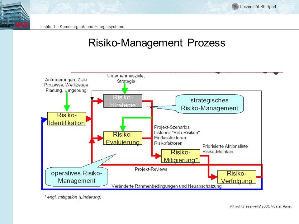 Universität Stuttgart Institut für Kernenergetik und Energiesysteme Risk-Management Prozess Risk Assessment (def.