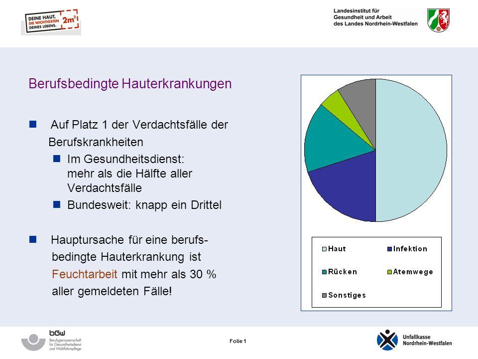 Folie 0 Hauterkrankungen in der Krankenpflege Prävention von Hauterkrankungen im Gesundheitswesen