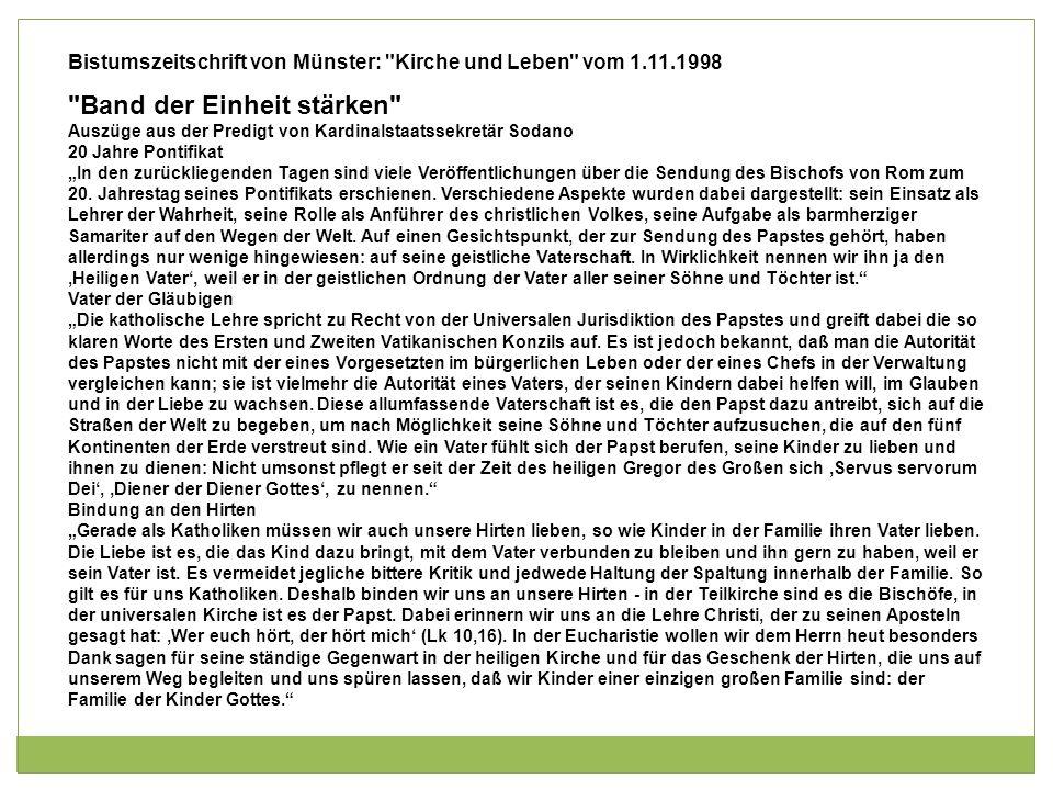 Bistumszeitschrift von Münster: