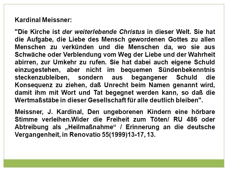 Kardinal Meissner: