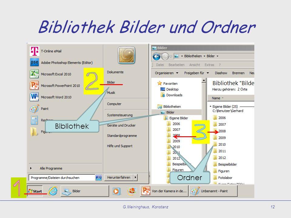 Bibliothek Bilder und Ordner G.Meininghaus, Konstanz12 Bibliothek Ordner