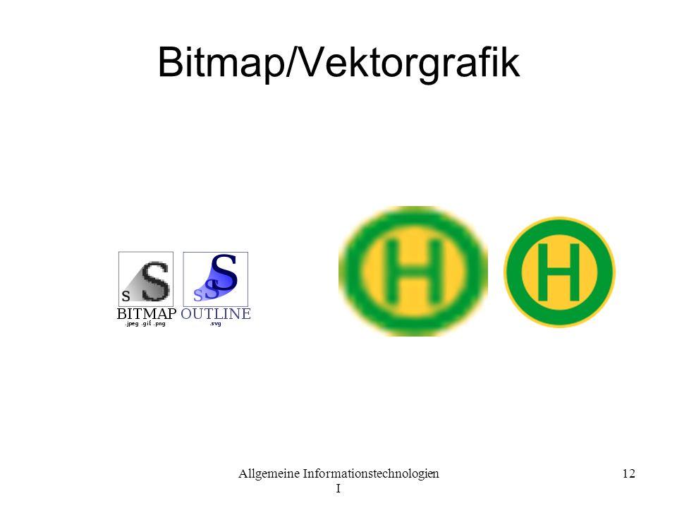 Allgemeine Informationstechnologien I 12 Bitmap/Vektorgrafik
