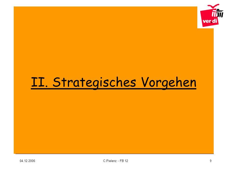 04.12.2006C.Pielenz - FB 129 II. Strategisches Vorgehen