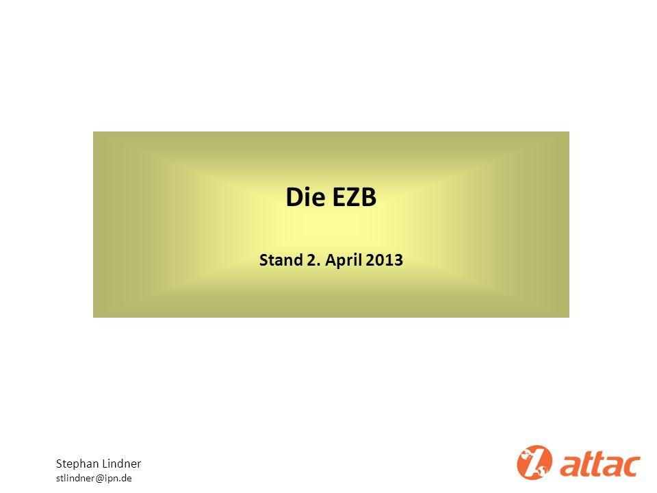 Die Aktiv-Seite der EZB-Bilanz Stephan Lindner stlindner@ipn.de