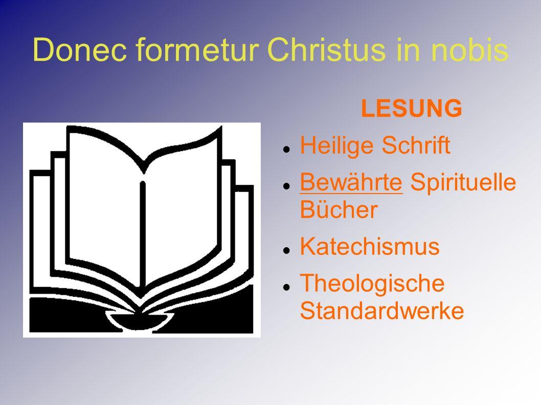 LESUNG Heilige Schrift Bewährte Spirituelle Bücher Katechismus Theologische Standardwerke