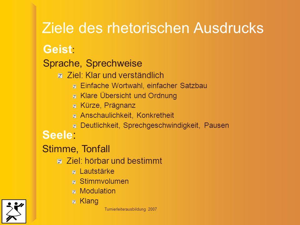 Turnierleiterausbildung 2007 Umgang mit Störungen Allg.