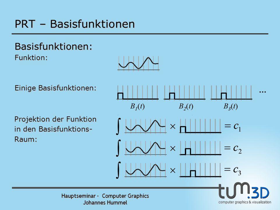 computer graphics & visualization Hauptseminar - Computer Graphics Johannes Hummel PRT – Neumann Expansion Neumann Expansion: p Alle Pfade von der Que