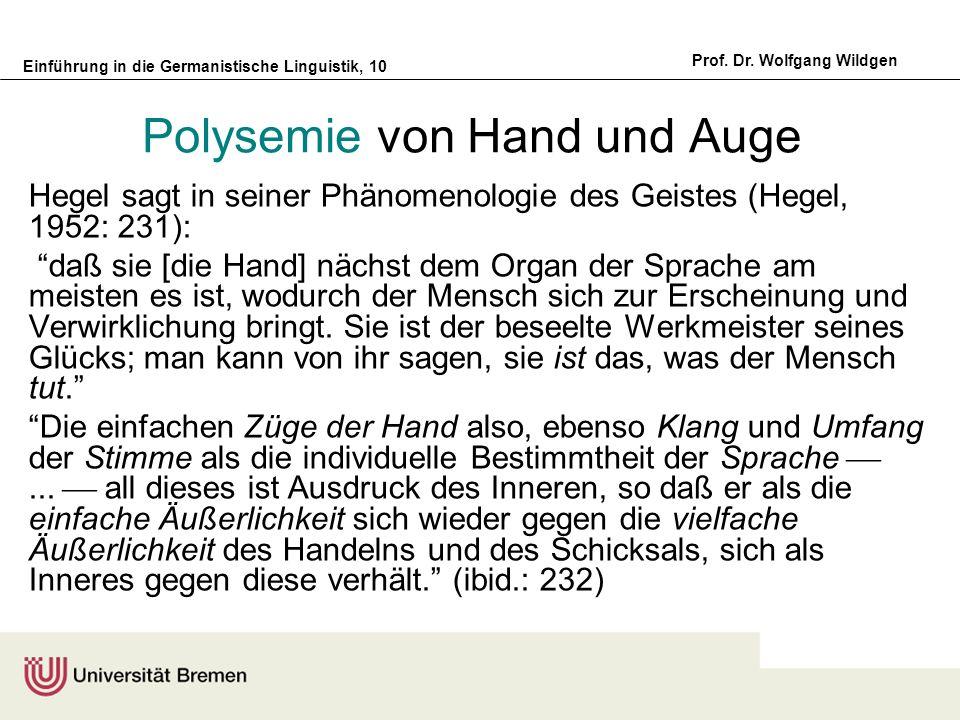 Einführung in die Germanistische Linguistik, 10 Prof.