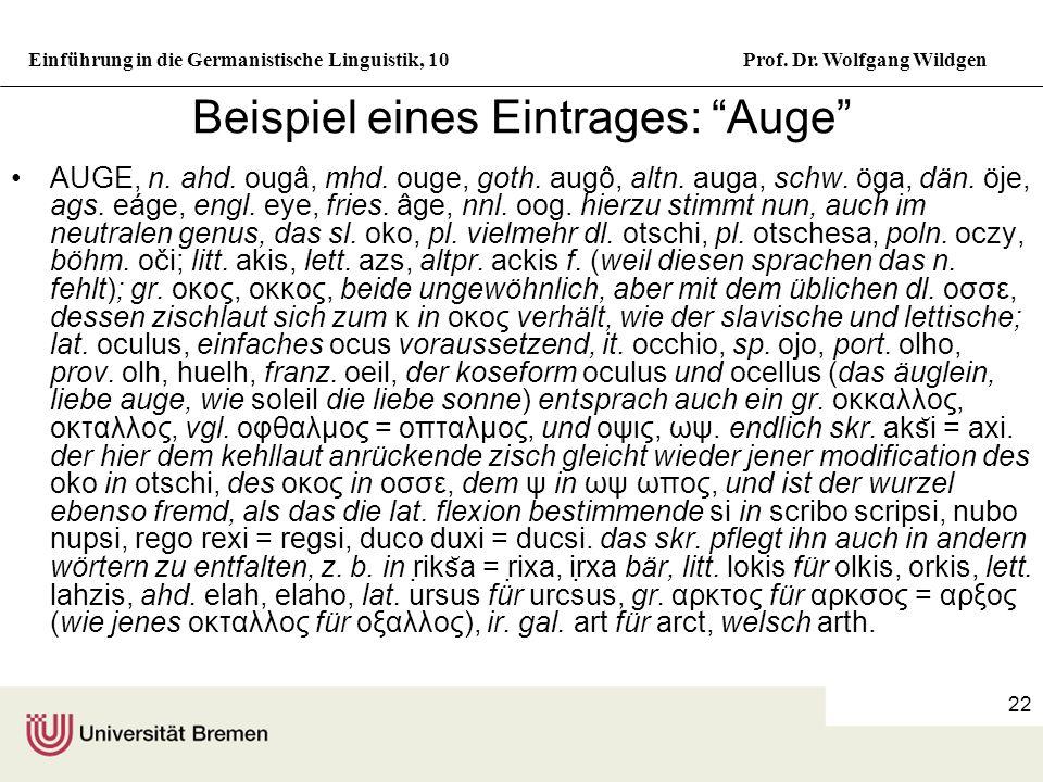 Einführung in die Germanistische Linguistik, 10Prof.
