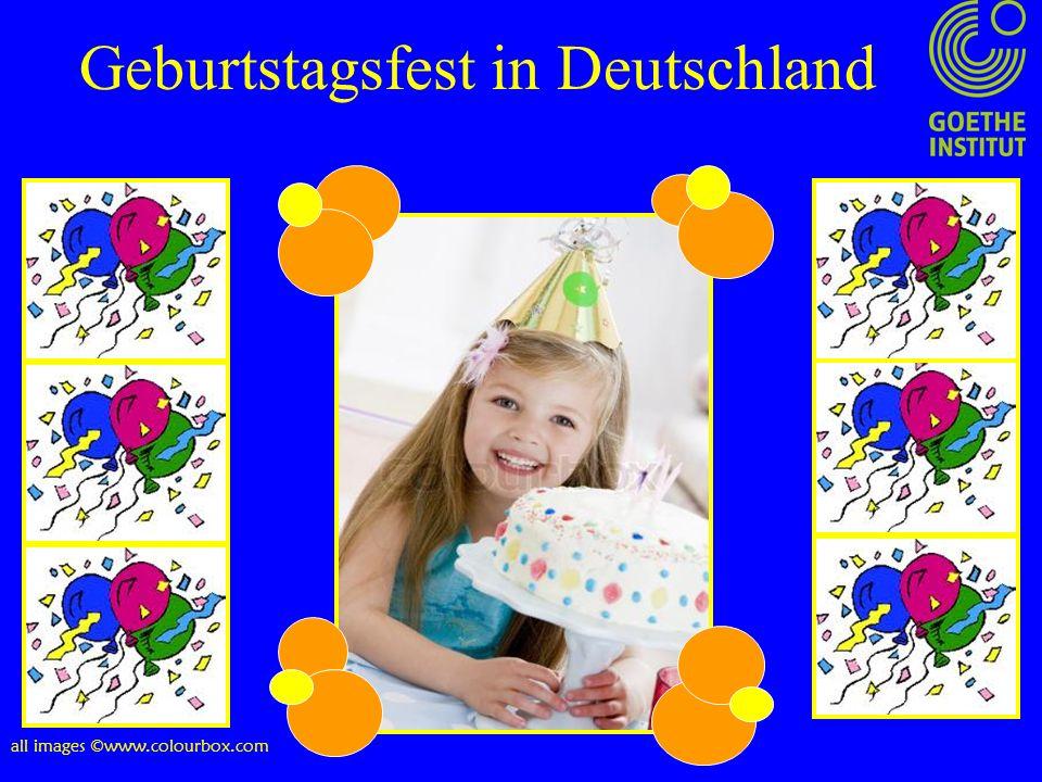 Geburtstagsfest in Deutschland all images ©www.colourbox.com