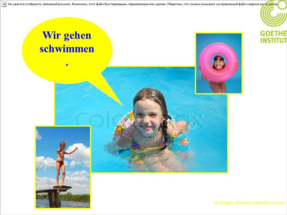 Wir gehen schwimmen. all images ©www.colourbox.com