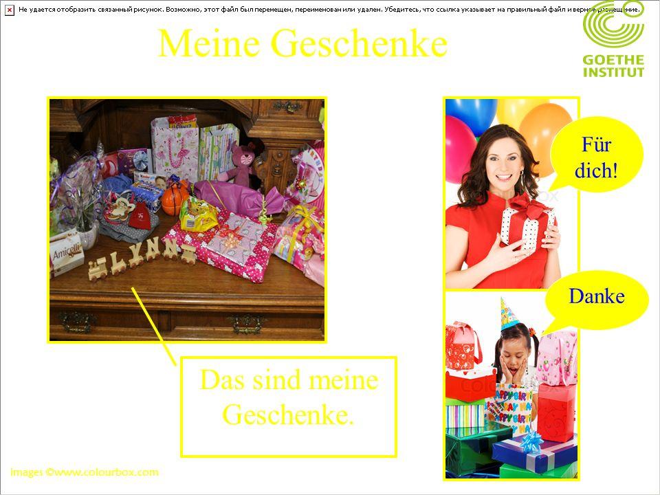 Meine Geschenke Das sind meine Geschenke. Für dich! Danke images ©www.colourbox.com