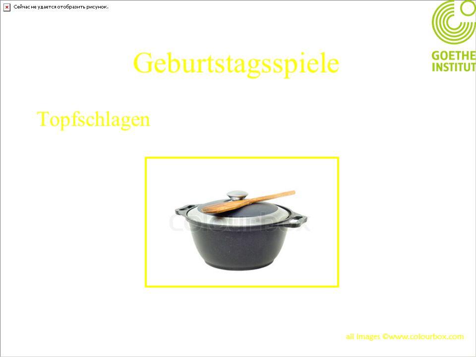 Geburtstagsspiele Topfschlagen all images ©www.colourbox.com