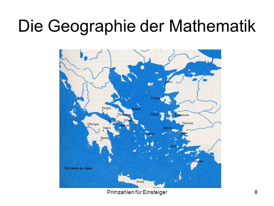 Primzahlen für Einsteiger8 Die Geographie der Mathematik