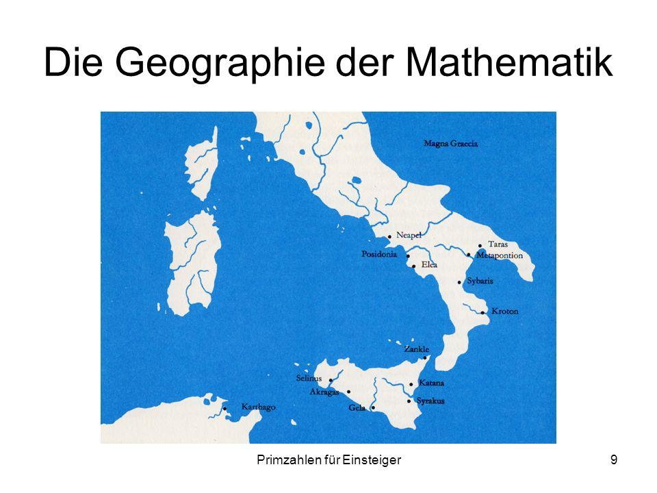 Primzahlen für Einsteiger9 Die Geographie der Mathematik