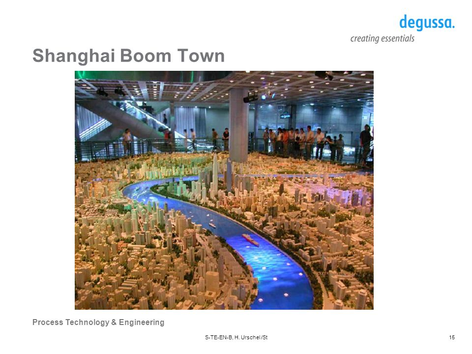 Process Technology & Engineering S-TE-EN-B, H. Urschel /St15 Shanghai Boom Town