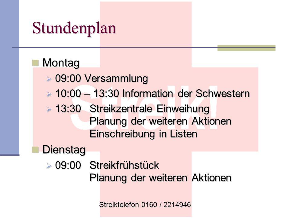 Stundenplan Montag Montag 09:00 Versammlung 09:00 Versammlung 10:00 – 13:30 Information der Schwestern 10:00 – 13:30 Information der Schwestern 13:30