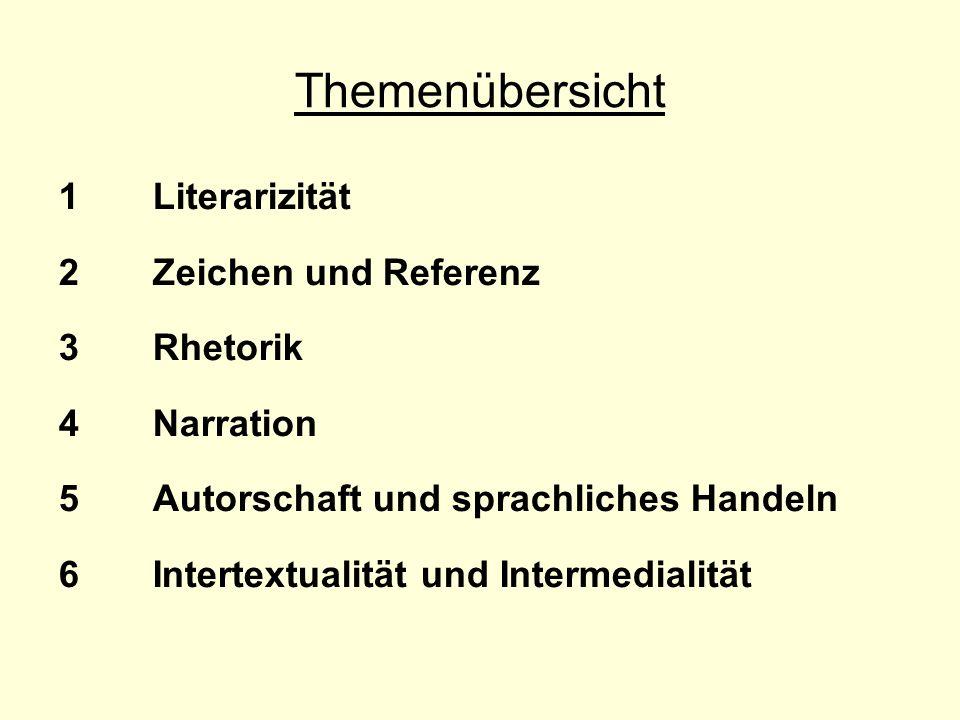 1 » Literarizität« Was unterscheidet literarische Texte von anderen sprachlichen Äußerungen?