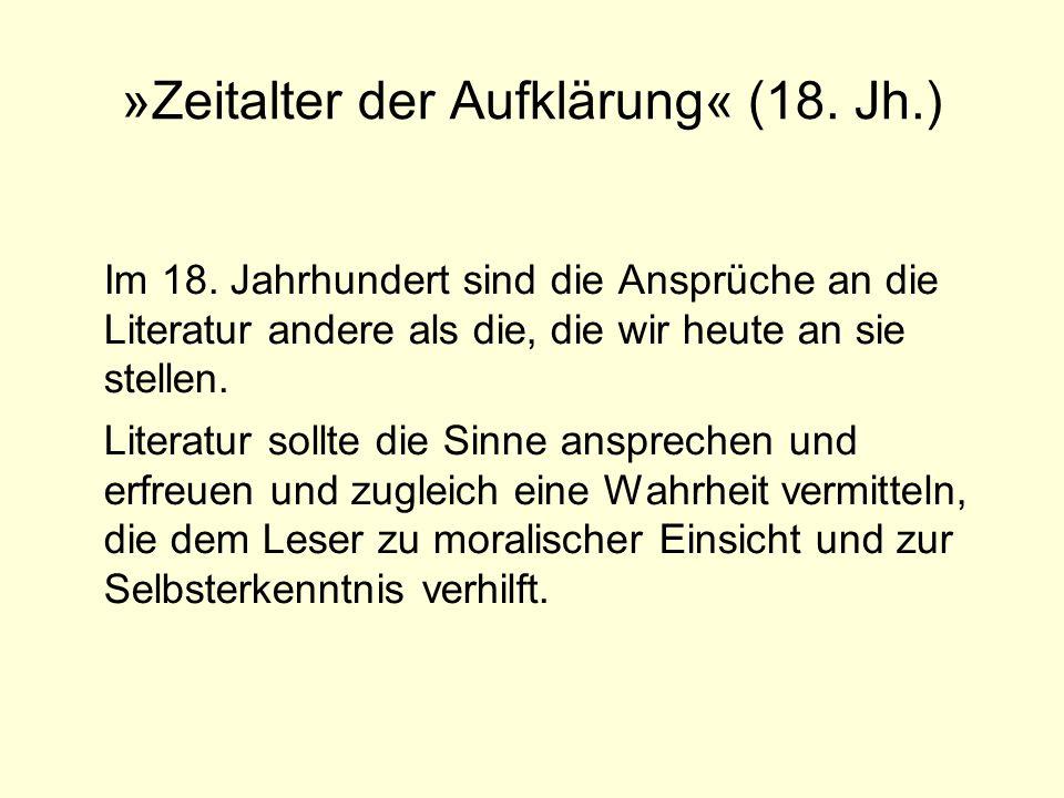 »Zeitalter der Aufklärung« (18.