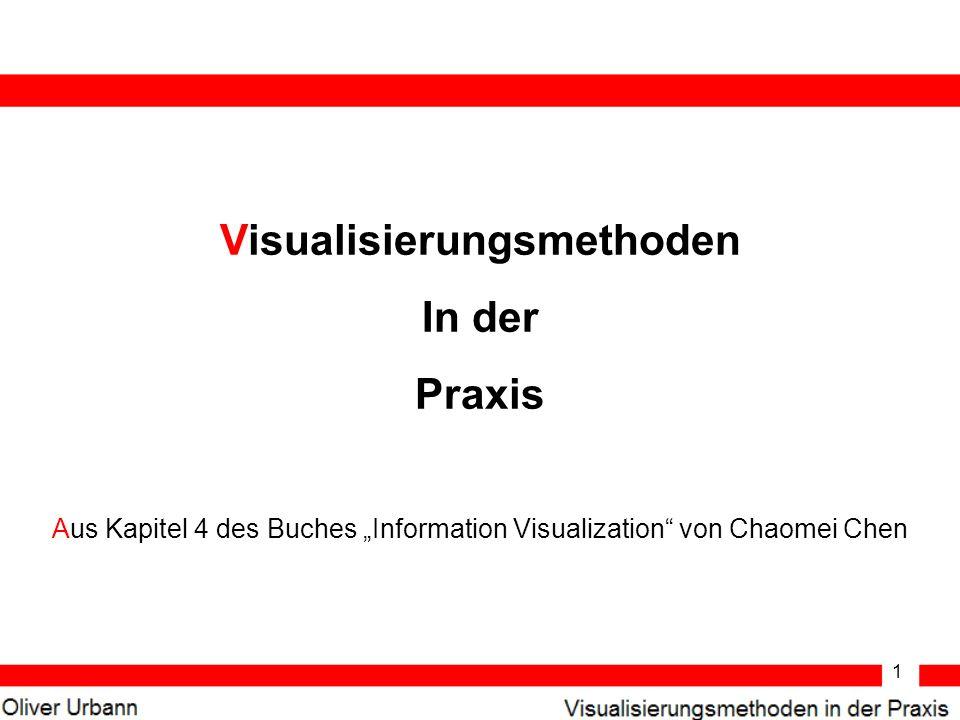 1 Visualisierungsmethoden In der Praxis Aus Kapitel 4 des Buches Information Visualization von Chaomei Chen