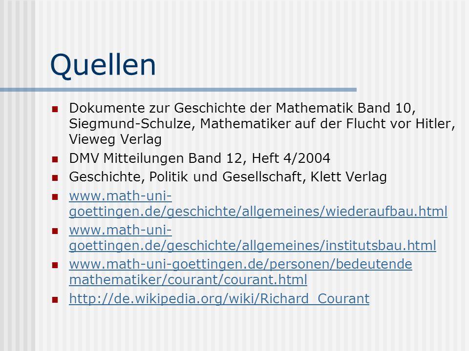 Quellen Dokumente zur Geschichte der Mathematik Band 10, Siegmund-Schulze, Mathematiker auf der Flucht vor Hitler, Vieweg Verlag DMV Mitteilungen Band