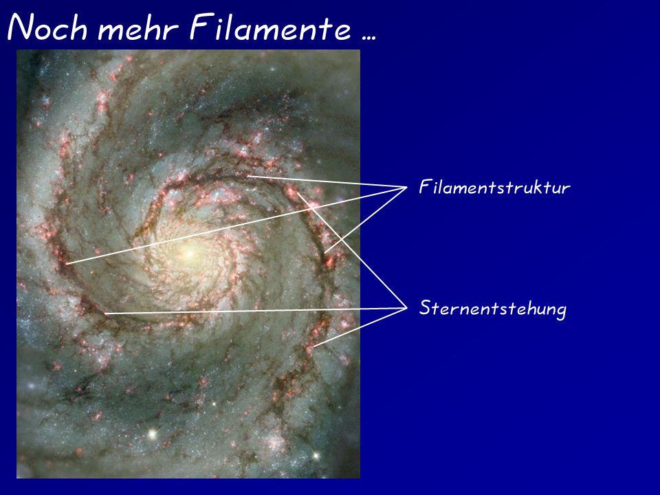 Noch mehr Filamente... Filamentstruktur Sternentstehung