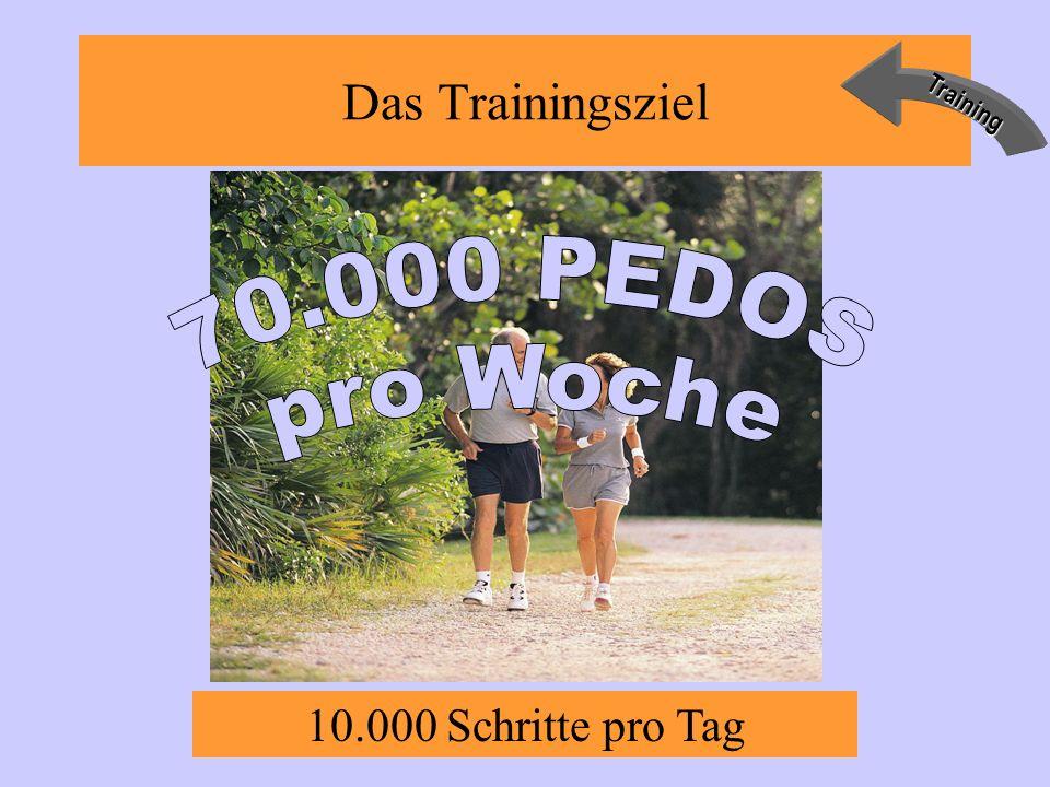 Das TrainingszielTraining 10.000 Schritte pro Tag
