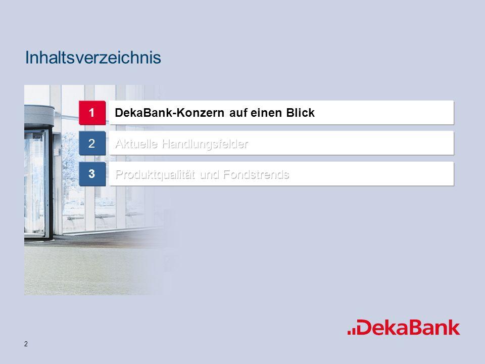 2 DekaBank-Konzern auf einen Blick1 2 3