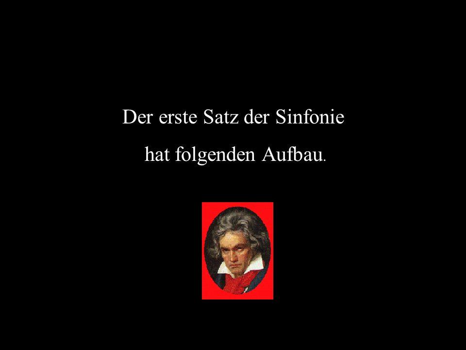 Der erste Satz der Sinfonie hat folgenden Aufbau.