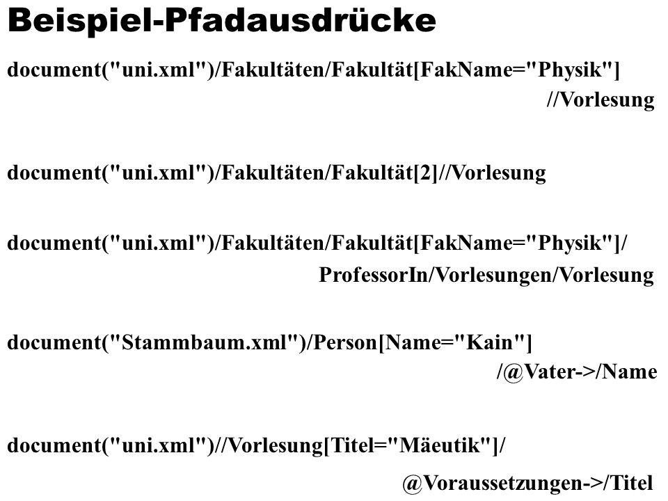 Beispiel-Pfadausdrücke document(
