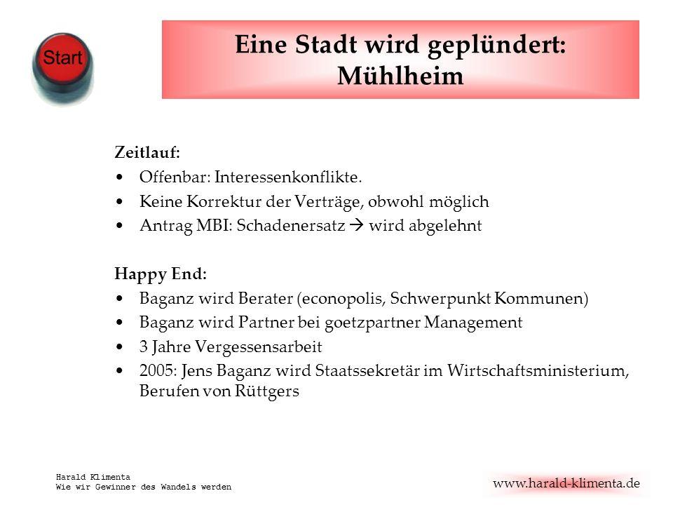www.harald-klimenta.de Harald Klimenta Wie wir Gewinner des Wandels werden Einzelfall.