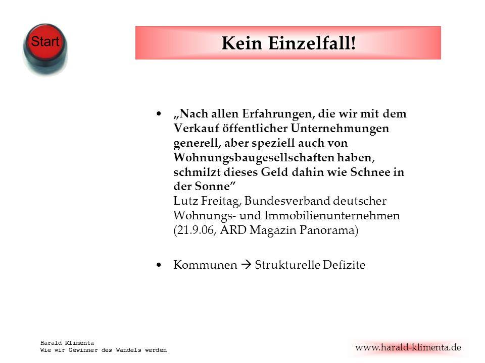 www.harald-klimenta.de Harald Klimenta Wie wir Gewinner des Wandels werden Kein Einzelfall.