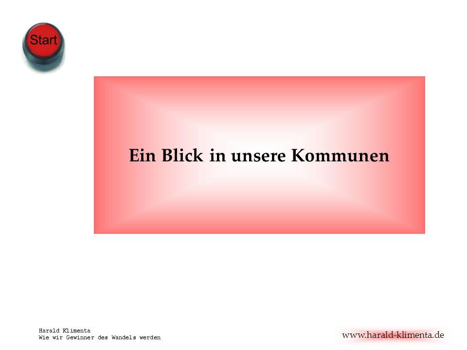 www.harald-klimenta.de Harald Klimenta Wie wir Gewinner des Wandels werden Ein Blick in unsere Kommunen