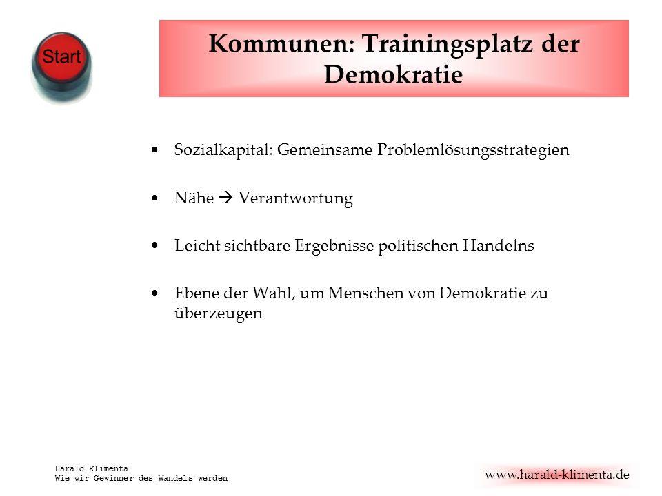 www.harald-klimenta.de Harald Klimenta Wie wir Gewinner des Wandels werden ToDo: Dicke Bretter bohren